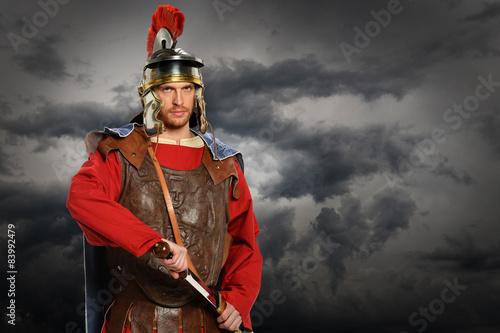 Fotografie, Obraz  Roman voják s mečem