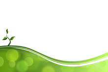 Abstract Background Green Lines Eco Sprout