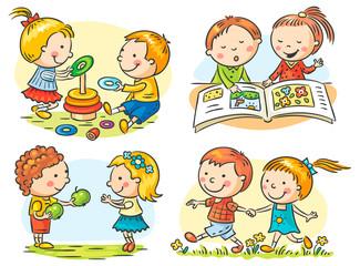 Fototapeta samoprzylepna Kids' Activities Set