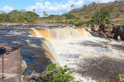 fototapeta na szkło Wodospad w Parku Narodowym Canaima, Wenezuela