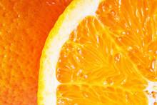Orange Close Up. Slice And Peel.