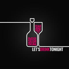 fototapeta wino butelka szklana