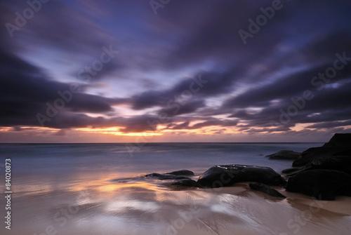 Moody sunrise seascape