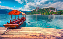Lake Bled Is A Glacial Lake In...