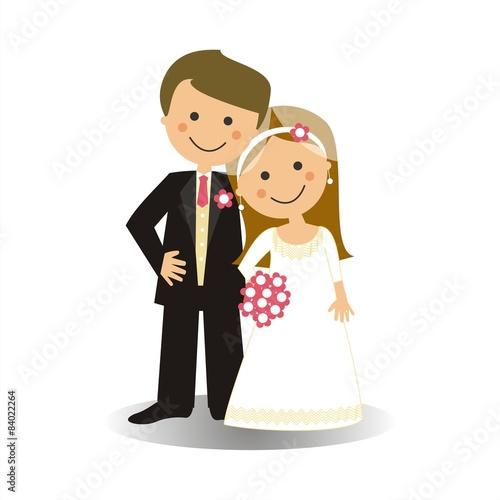 Fotografie, Obraz  Pareja de recién casados SF1