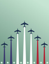 USA Themed Airplanes Flyer