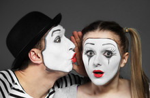 Male Mime Sharing Secret With ...