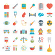 Flat icons set of medical tools and healthcare equipment