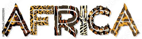 Patchwork Afryki z teksturami tkaniny i skóry