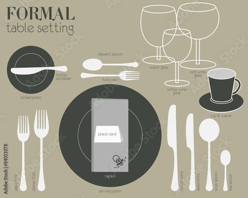 FORMAL TABLE SETTING Formal Dining Table Set In Modern Style Buy - How to set a formal dining table