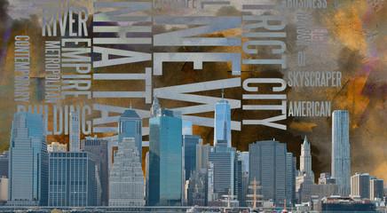 Panel Szklany Podświetlane Nowy York NYC Landscape