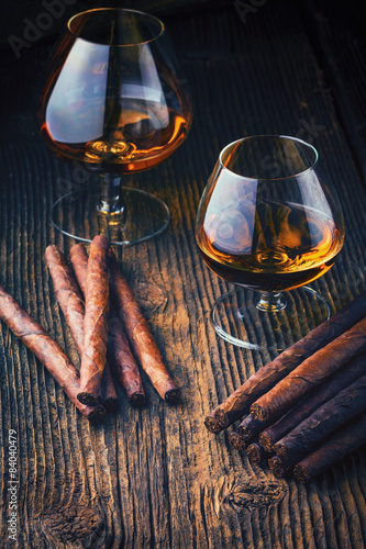 Poster  quality cigars and cognac