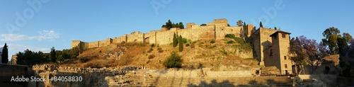 Panoramic view roman theater in Malaga