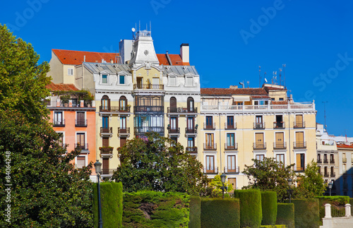 Spoed Foto op Canvas Theater Park near Royal Palace - Madrid