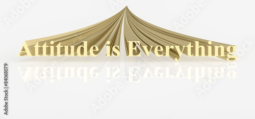 Attitude is Everything Quote in Gold Fototapet