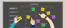 Calendar Schedule Board With H...