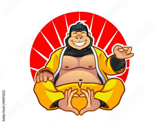 Photo  Fat Gorilla Zen Master