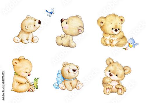 Set of 6 Teddy bears