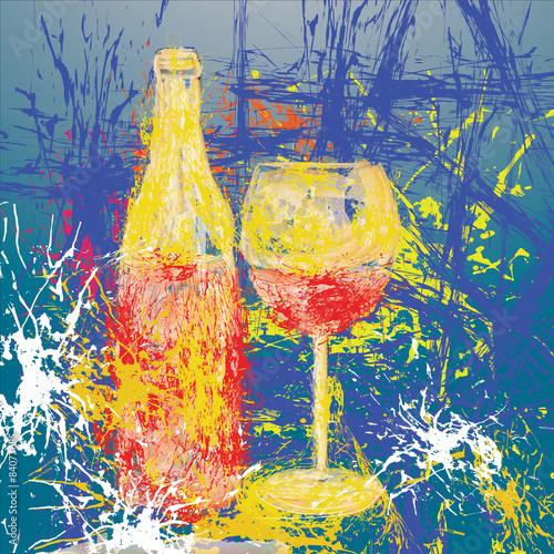 wino-sztuka-wzor-tla-z-miejsca