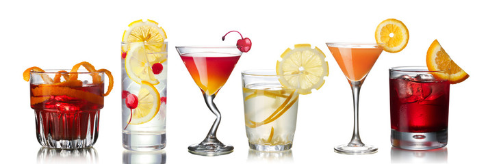 Panel Szklany Koktajle IBA cocktails