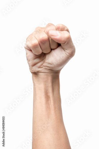 Fotografiet  Male clenched fist
