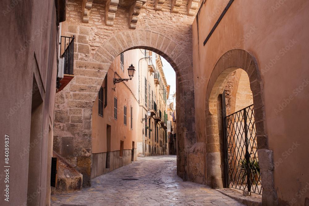 Fototapety, obrazy: Old street of Palma de Mallorca
