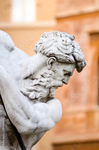 Fotografie, Obraz  Neptun, Piazza Navona v Řím Itálie