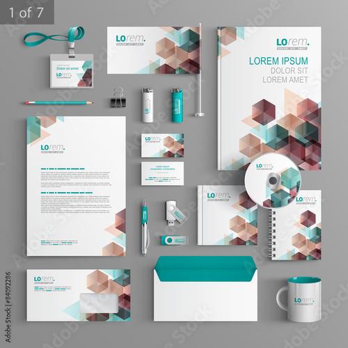 Fotografie, Obraz  Stationery template design