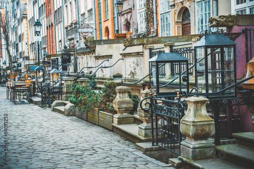 Długa ulica handlowa w Gdańsku