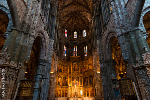 Fotografie, Obraz  High altar of the gothic Cathedral of Avila