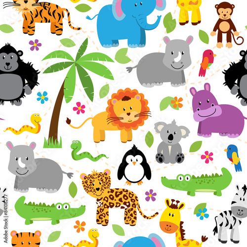ilustracyjny-wzor-dla-dzieci-ze-zwierzatkami