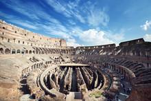 Inside Of Colosseum In Rome, I...