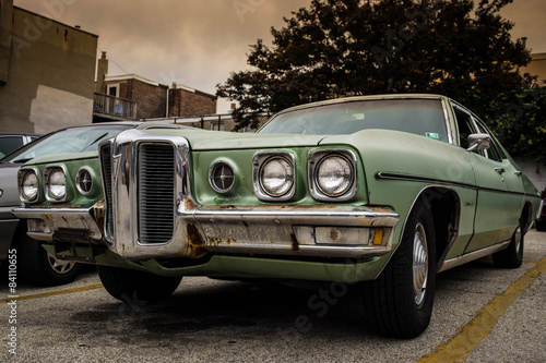 Canvas Print Rusty Pontiac Catalina