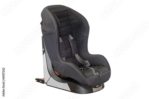 Fotografie, Obraz  Baby car seat isolated on white background