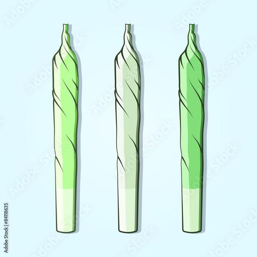 Fototapeta Roll-up with hemp in flat style