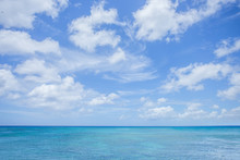 Sea With Clouds Blue Sky Background