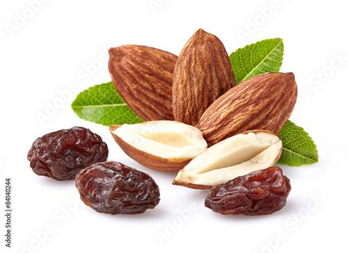 Almonds with raisins Fototapete