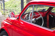 small car / Detail of a small red car