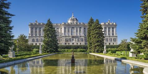 Royal Palace from Sabatini Gardens,Madrid