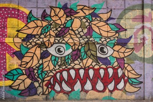 Foto op Aluminium Graffiti BANGKOK,THAILAND-May 26 : Street art graffiti. Paintings on the