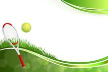 Green Tennis Sport Yellow Ball Illustration Frame