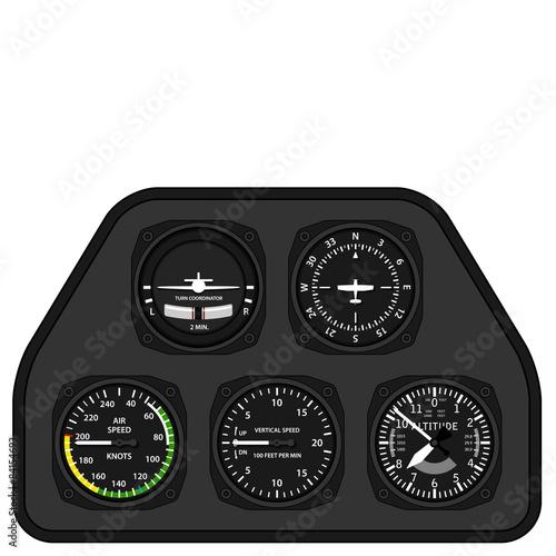 Photo vector aviation airplane glider dashboard