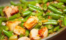 Cooking Meat With Green Beans ...