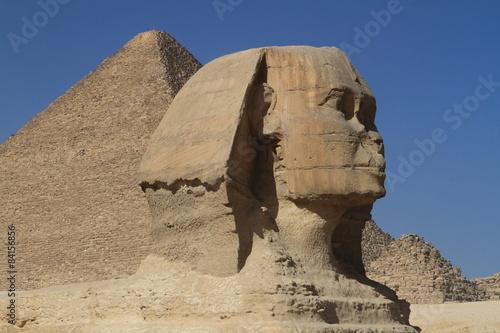 In de dag Egypte Die Pyramiden und Sphinx in Ägypten
