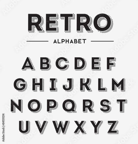 Fotografía  Graphic Retro Letters set