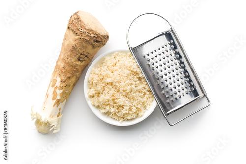 Stampa su Tela grated horseradish root