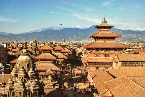 Fotografie, Obraz  KATHMANDU, NEPAL - CIRCA DEC, 2014: View of the Patan Durbar Square