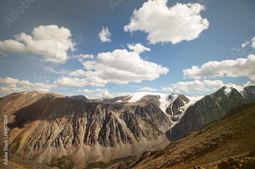 Fotografie, Obraz  Horská krajina s mraky