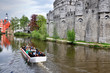 canvas print picture - Medieval castle Gravensteen (Castle of the Counts) in Gent