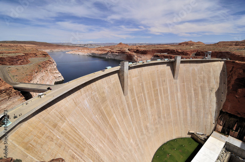 Foto op Plexiglas Dam Glen Canyon Dam / Glen Canyon Dam in Arizona